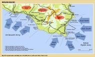 Asisbiz Artwork showing a map of the Allied landings in Sicily July 1943 0A