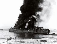 Asisbiz US Navy LST 158 burning at Blue Beach east of Licata on the morning of 11 July 1943 02