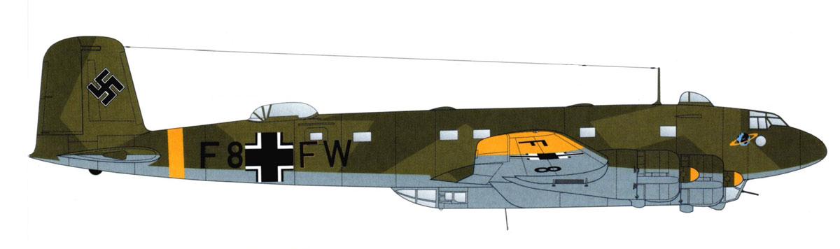 Focke Wulf Fw 200C Condor 12.KG40 (F8+FW) broken back 1942 0A
