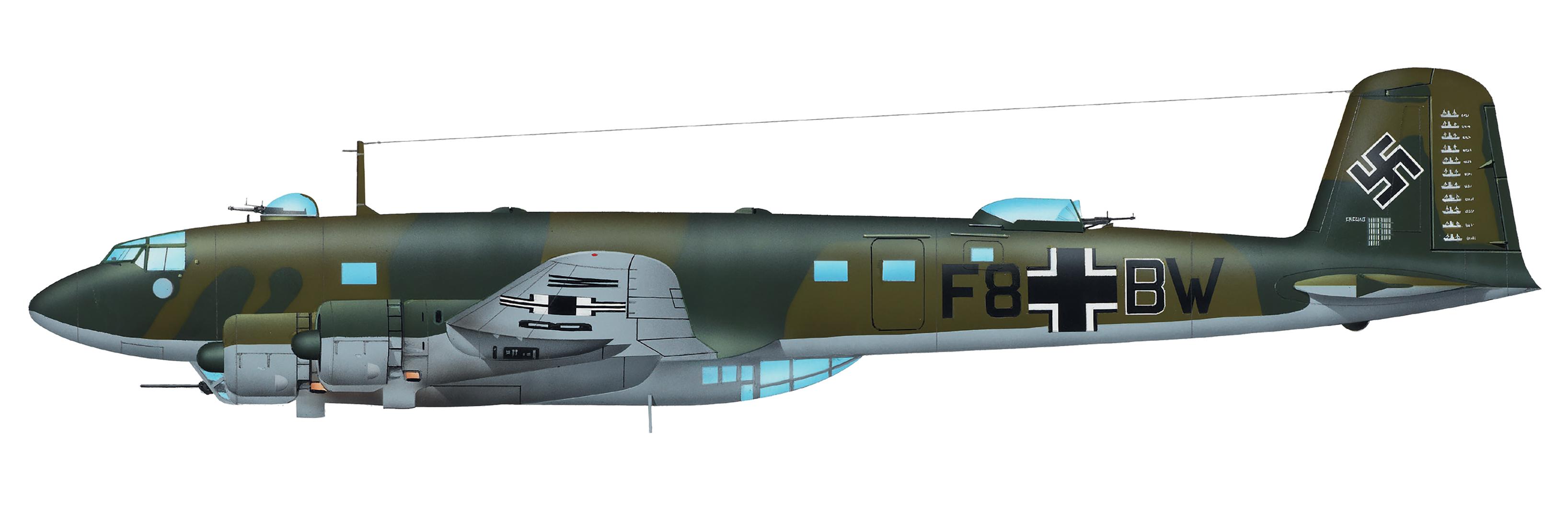 Focke Wulf Fw 200C2 Condor 12.KG40 (F8+BW) Stkz NA+WI WNr 0016 Orleans Bricy France 1942 0A