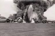 Asisbiz Focke Wulf Fw 200C Condor KG40 is engulfed in flames Oslo 1943 01