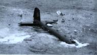 Asisbiz Focke Wulf Fw 200C Condor ditches in the Atlantic after attacking a convoy 01