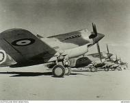 Asisbiz Curtiss Tomahawk IIb RAAF 3Sqn W and Z foreground at Sidi Barrani Egypt Nov 1941 AWM MED0085