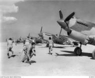 Asisbiz Curtiss Tomahawk IIbs RAAF 3Sqn pilots during a scramble Western Desert 23rd Dec 1941 AWM 010923