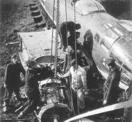 Asisbiz Heinkel He 111 KG26 bomber being salvaged Banak Norway 01