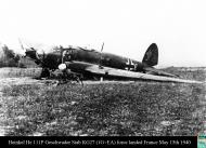 Asisbiz Heinkel He 111P Geschwader Stab KG27 1G+EA force landed France May 15th 1940 01