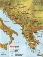 Asisbiz Artwork showing a map of the Balkans Campaign 1941 0A