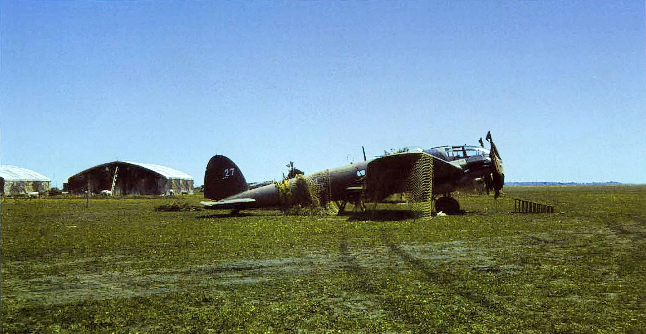 Heinkel He 111H3 RRAF White 27 Bessarabia 1941 01