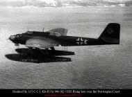 Asisbiz Heinkel He 115C1 1.KuFlGr906 (8L+EH) flying low over the Norwegian Coast 01