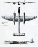 Asisbiz Heinkel He 219A NJG Sktz DV+DI WNr 190113 used in ejection seats trials Germany 0B