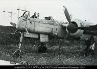 Asisbiz Heinkel He 219A0 Werk Nr 190176 left abandoned Germany 1945