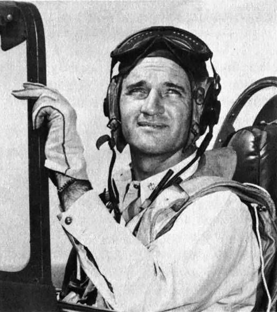 Aircrew USN CDR David McCampbell Commander Air Group 15 in his F6F 5 Hellcat Minsi III 04