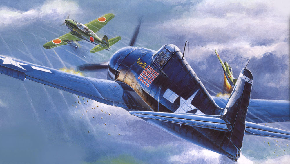 Art Grumman F6F 5 Hellcat Minsi III BuNo 70143 Cdr David McCampbell USS Essex Oct 25th 1944 0A