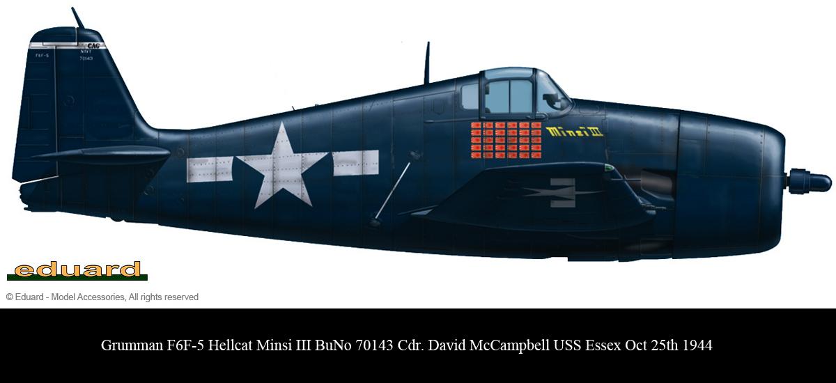 Grumman F6F 5 Hellcat Minsi III BuNo