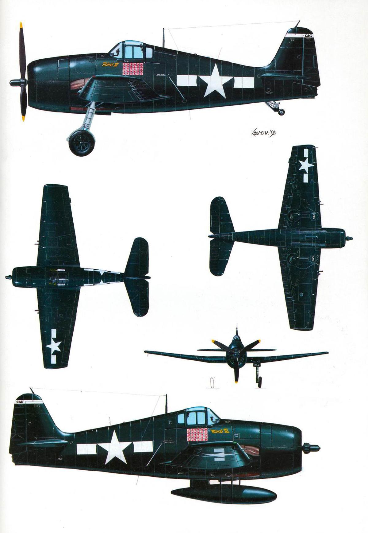 Grumman F6F 5 Hellcat Minsi III BuNo 70143 Cdr David McCampbell CV 9 USS Essex 25th Oct 1944 0C