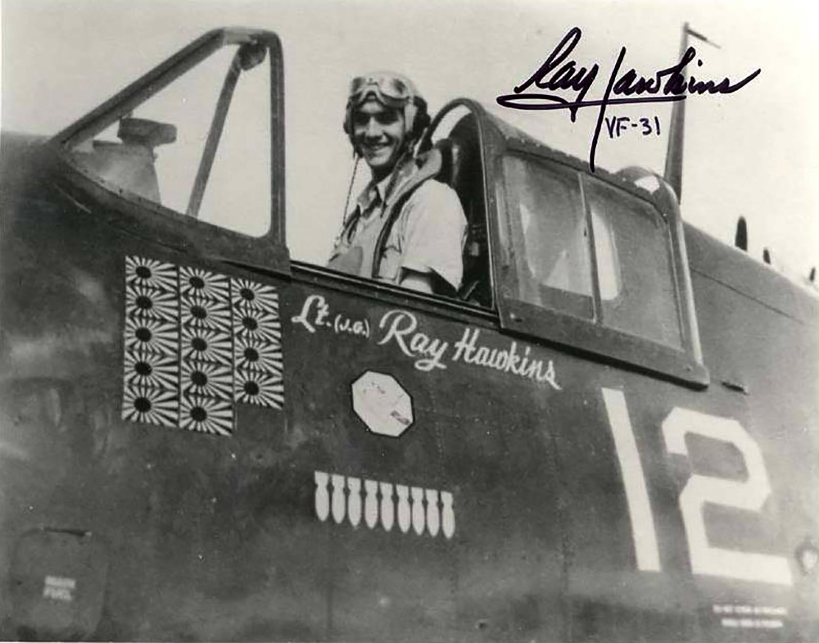 Aircrew USN VF 31 ace Arthur Ray Hawkins 01