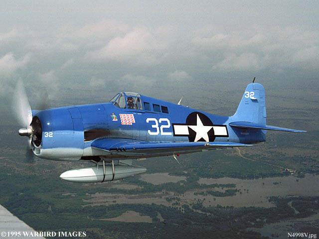 Airworthy warbird Grumman F6F Hellcat N9109R as White 32 02