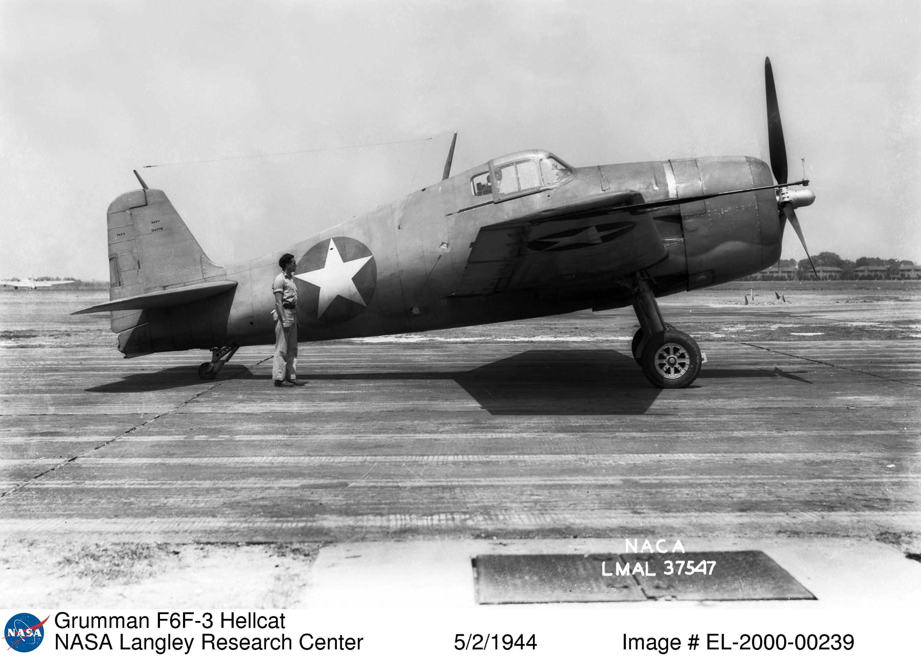 Grumman F6F 3 Hellcat NASA Langley Research Center 2nd May 1944 01