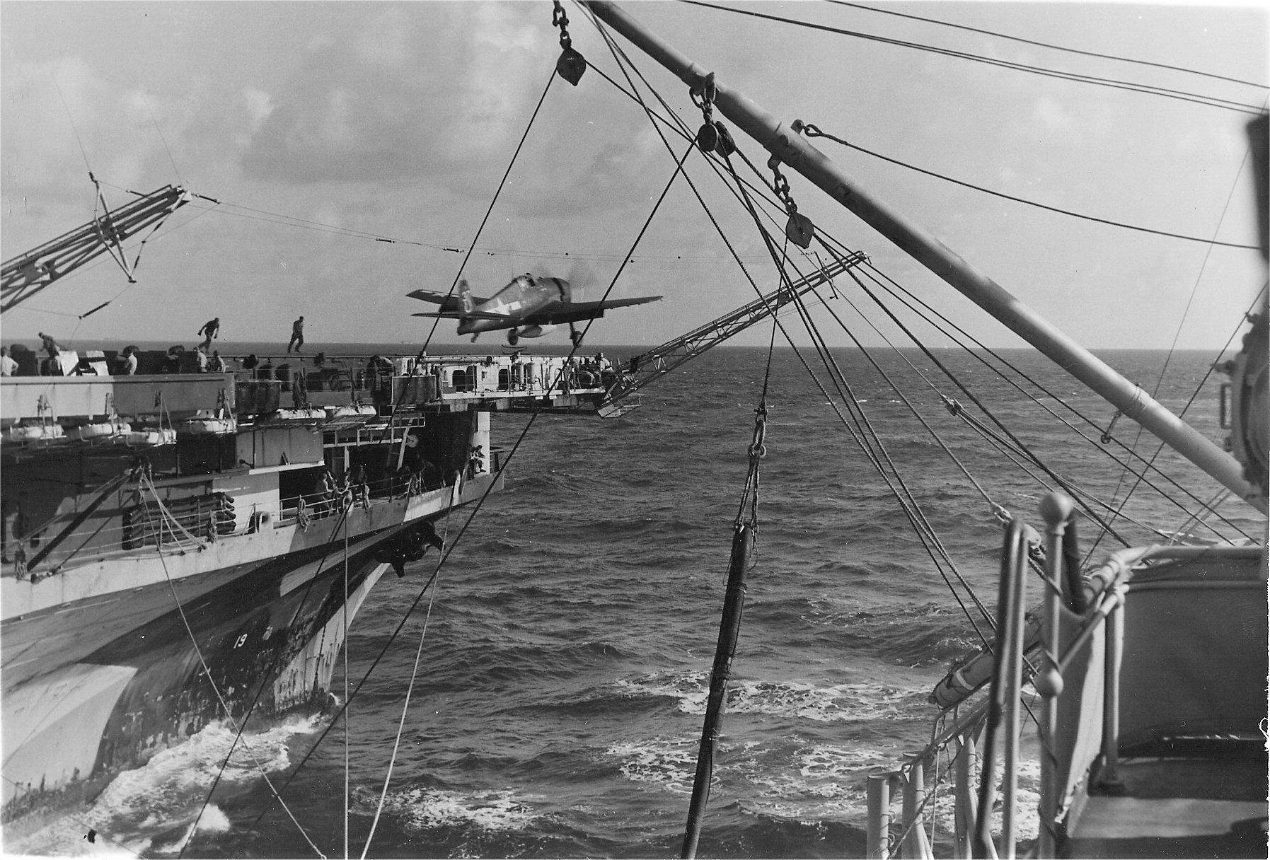 Grumman F6F 3 Hellcat VF 7 White 37 horseshoe launched from CV 19 USS Hancock 1944 01