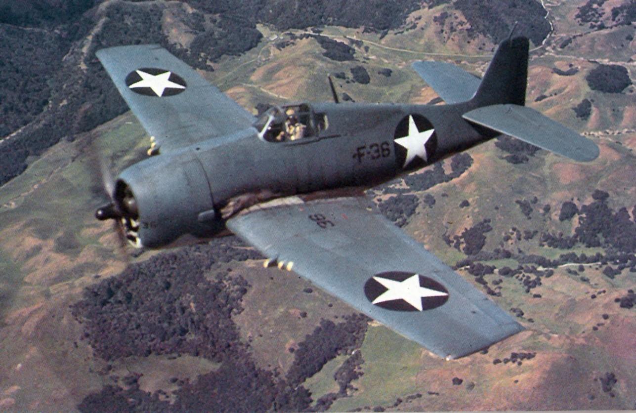 Asisbiz Grumman F6F-3 Hellcat color photo showing early