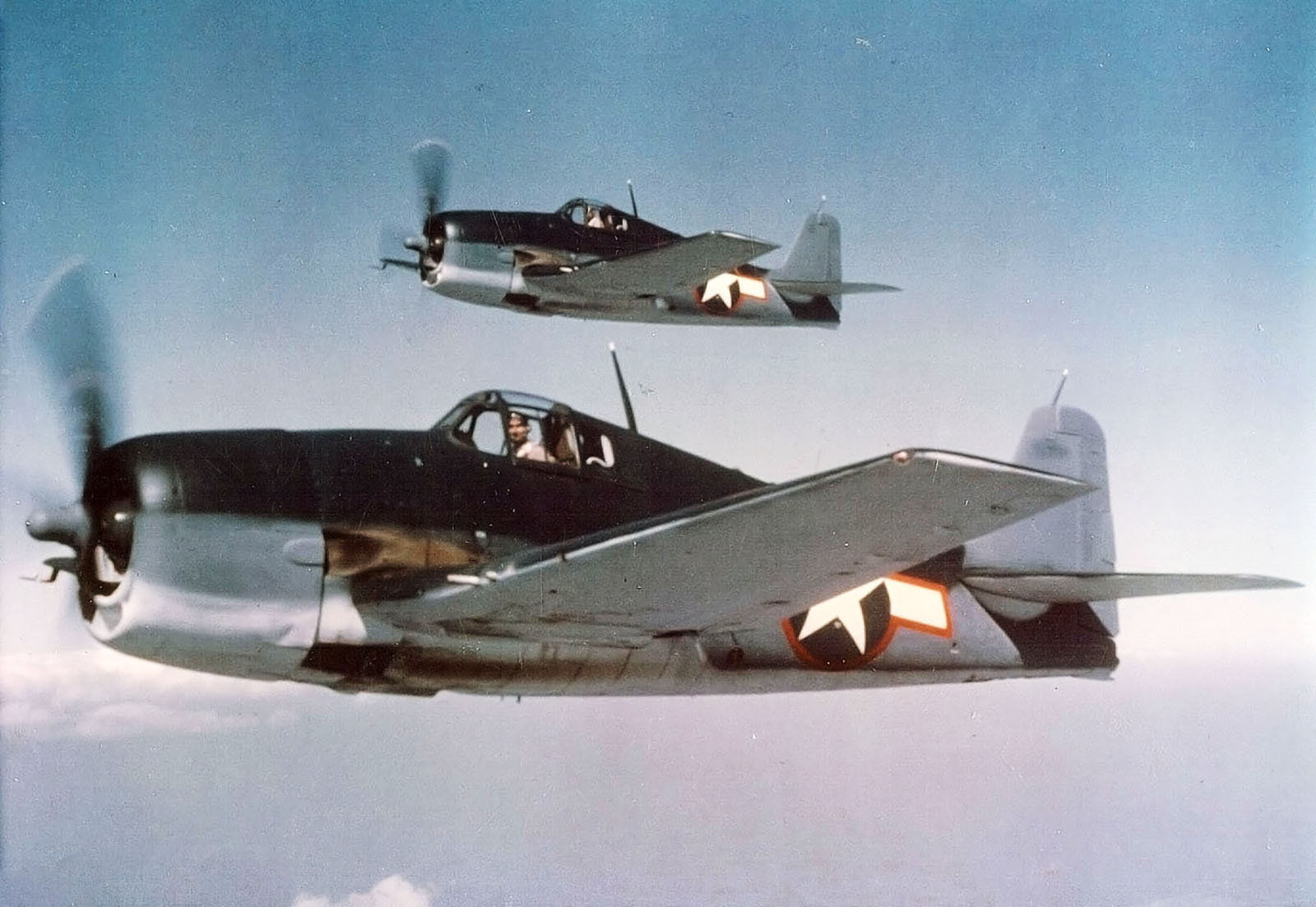 Grumman F6F 3 Hellcat lovely color photograph showing early USN markings 03