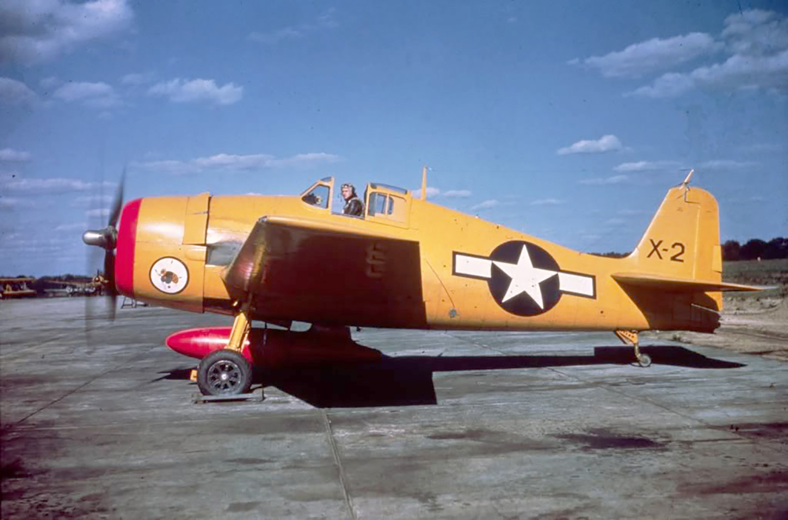 Grumman F6F 3K Hellcat brightly colored drone and target aircraft post war 01