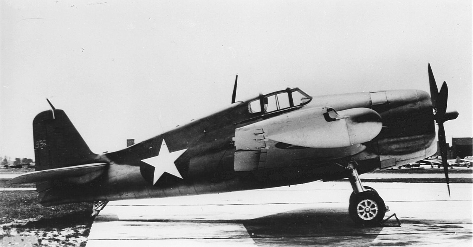 Grumman F6F 3N Hellcat NATC with experimental airborne intercept radar on this F6F 3 01