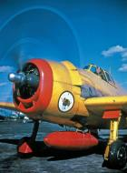 Asisbiz Grumman F6F 3K Hellcat brightly colored drone and target aircraft post war 02