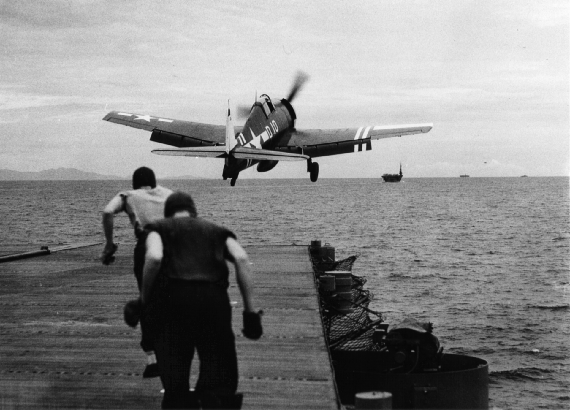 Grumman F6F 5 Hellcat VF 40 White D10 launched from CVE 27 USS Suwanee 30th Aug 1945 01