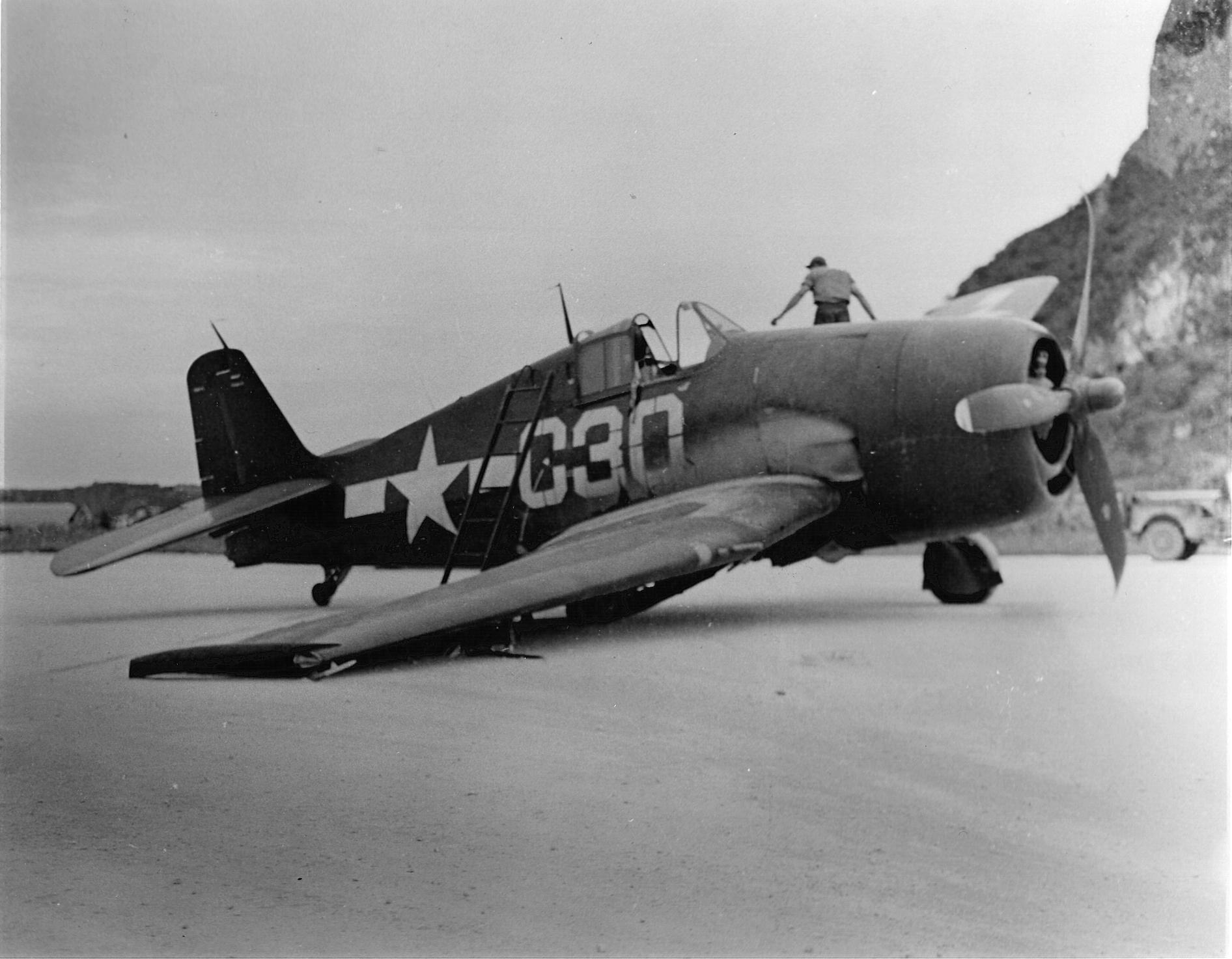 Grumman F6F 5 Hellcat VF 88 Yellow C30 at NAB Marpi Saipan 1945 01