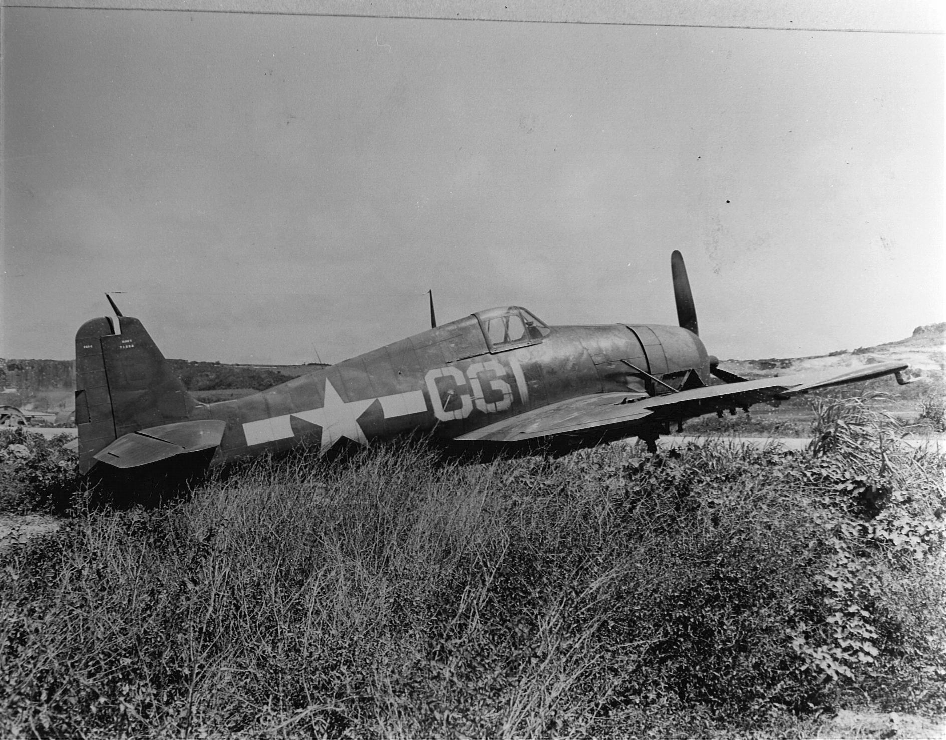 Grumman F6F 5 Hellcat VF 88 Yellow C61 at NAB Marpi Saipan 1945 01