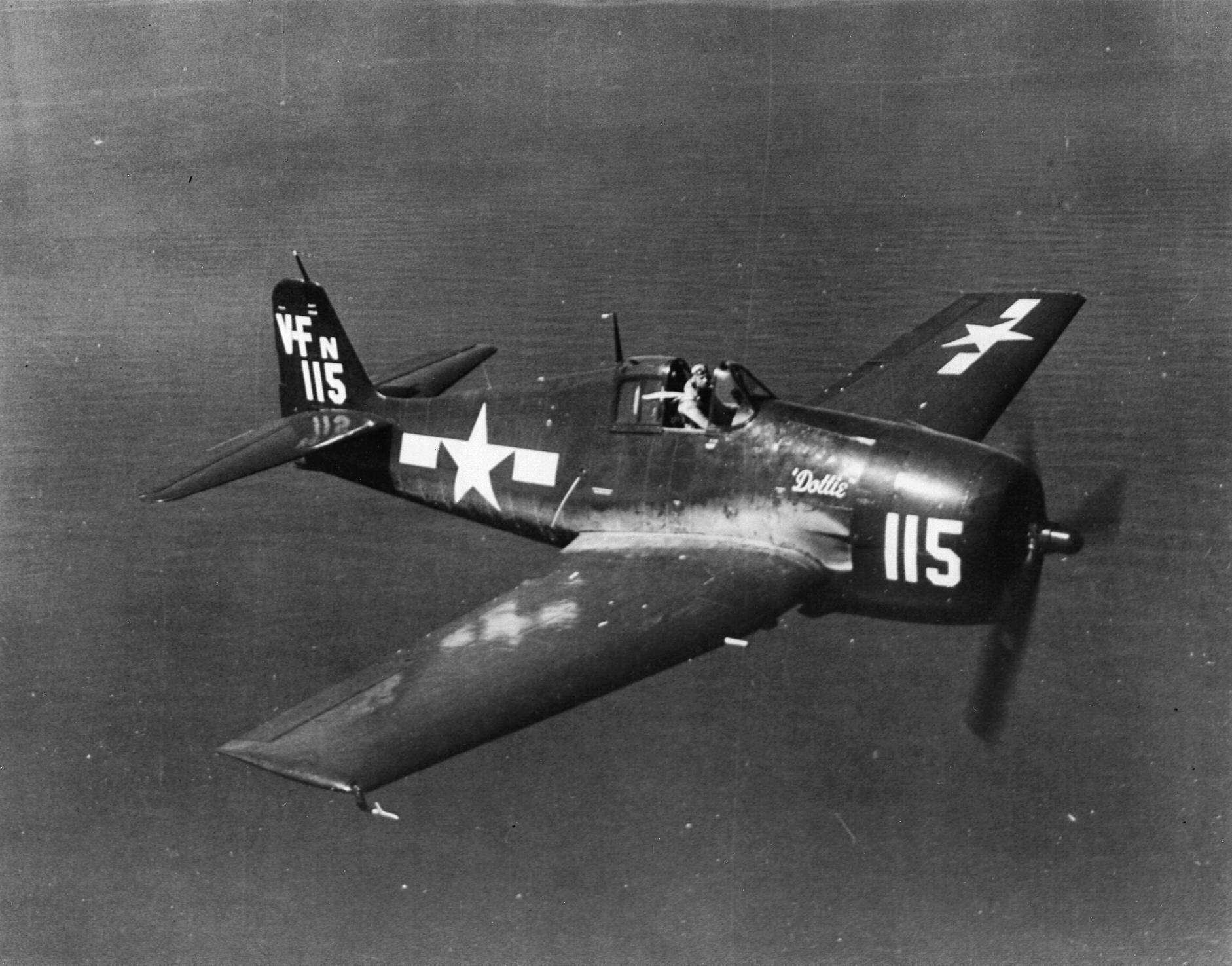 Grumman F6F 5 Hellcat VFN 1 White 115 Dottie OTU from NAS Vero Beach FL 01
