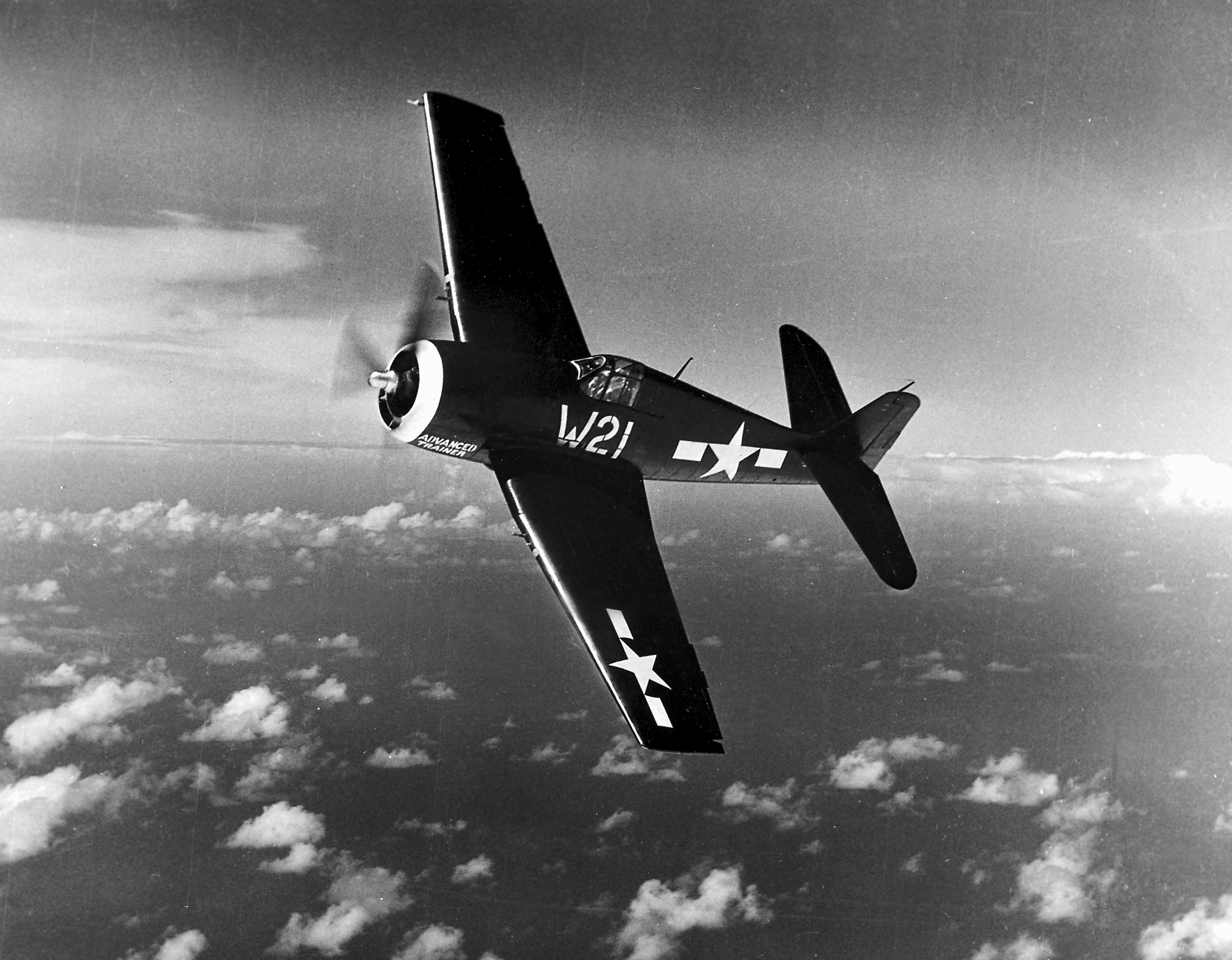 Grumman F6F 5 Hellcat VMF 215 White W21 from ATU Ewa Hawaii 1945 01