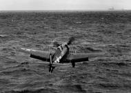 Asisbiz Grumman F6F 5 Hellcat VF 29 taking off from CLV 28 USS Cabot 5th Feb 1945 01