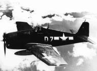 Asisbiz Grumman F6F 5 Hellcat VF 40 White D7 LTJG Coleman over Ishigami Island Sahishima 1945 01