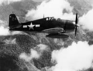 Asisbiz Grumman F6F 5 Hellcat VF 7 Yellow 24 on patrol CV 19 USS Hancock 01