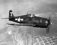 Asisbiz Grumman F6F 5 Hellcat VF 75 White 4 flying near Atlantic City NJ 01