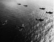 Asisbiz Grumman F6F 5 Hellcat VF 87 White 43,45,14,3 and 51 CV 14 USS Ticonderoga 1945 01