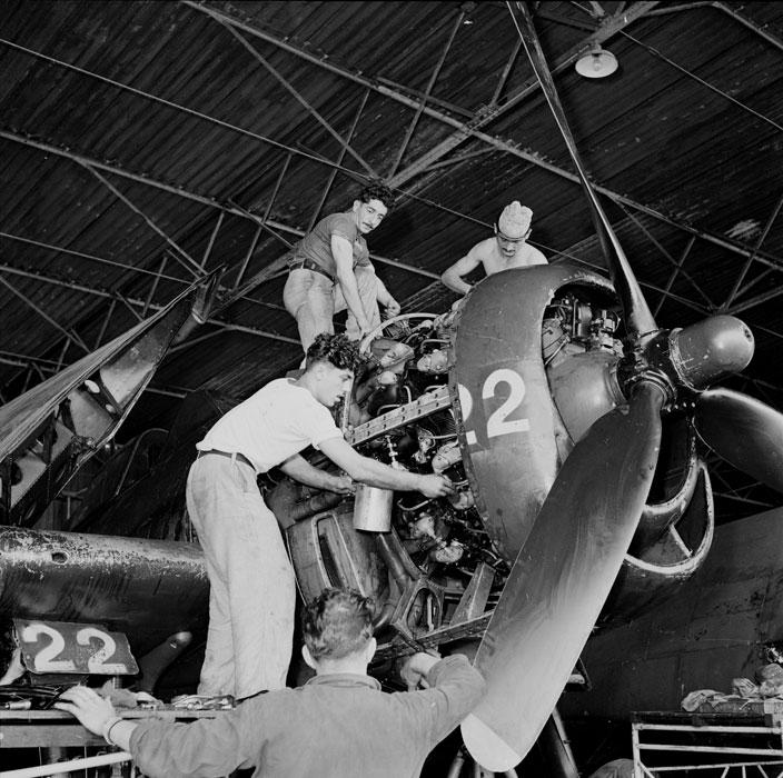 French Navy Grumman F6F 5 Hellcat 11e flottille de chasse based Cat Bi Indochina 01