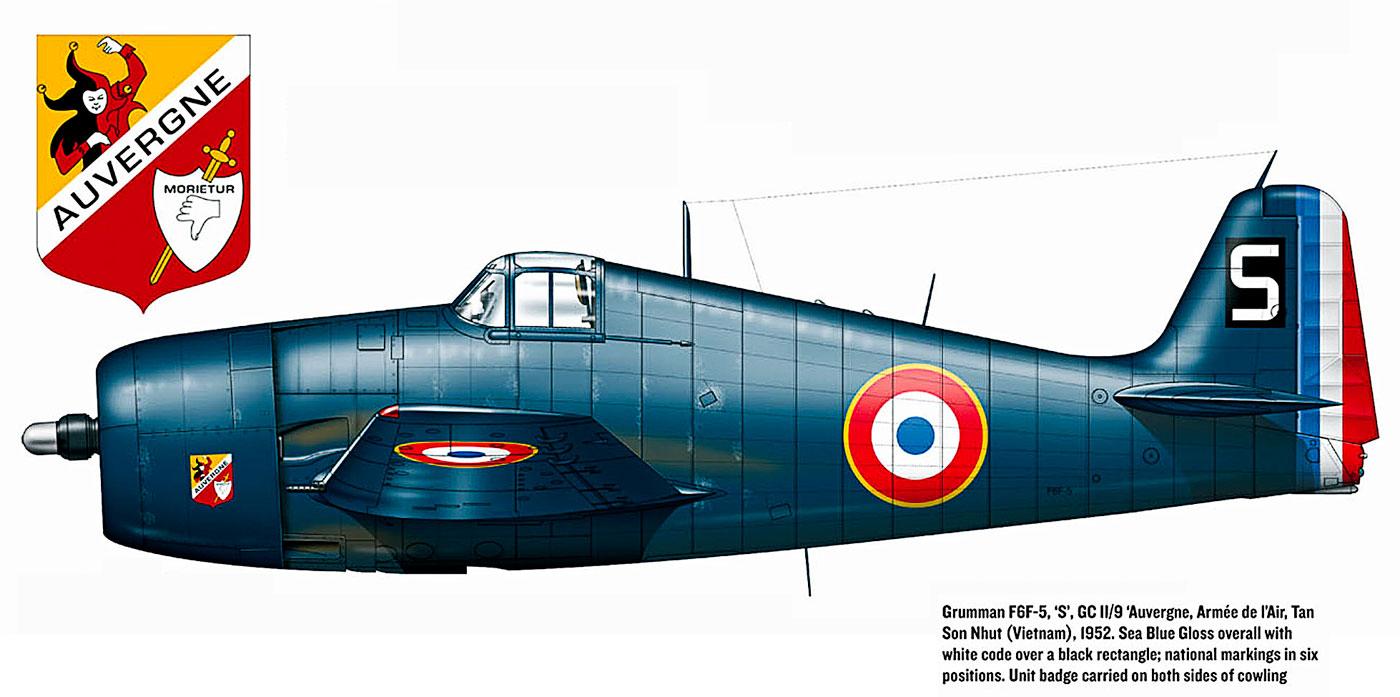 French Navy Grumman F6F 5 Hellcat Armee de lAir GCII.9 Tan Son Nhut Vietnam 1952 0A