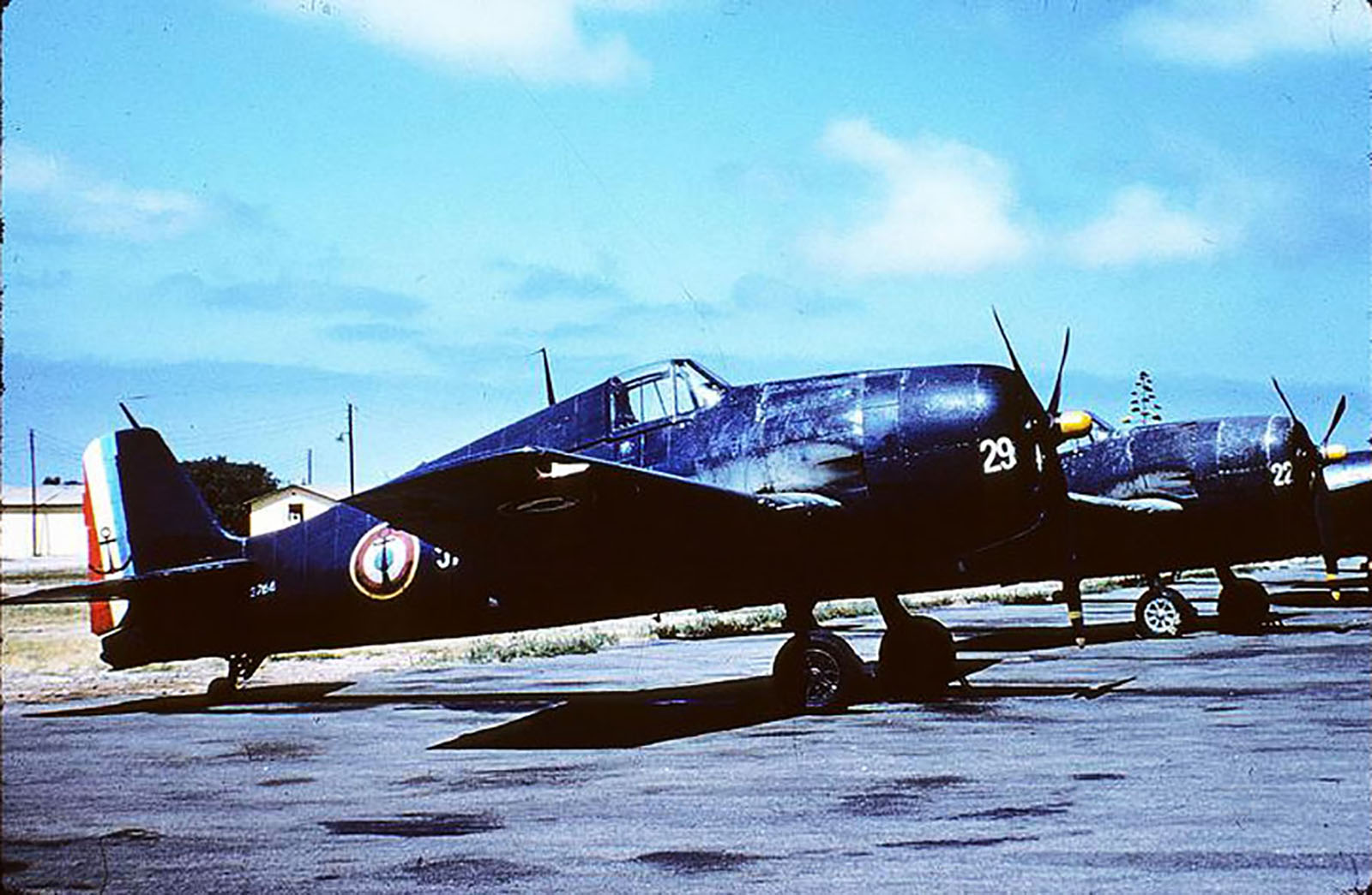 French Navy Grumman F6F 5 Hellcat White 29 and 22 showing standard French Navy Indochina paint schemes 01