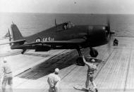 Asisbiz French Navy Grumman F6F 5 Hellcat 54S14 Carrier Qualifications aboard CV 14 USS Randolph 1954 01