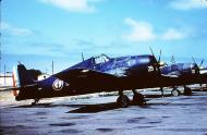 Asisbiz French Navy Grumman F6F 5 Hellcat White 29 and 22 showing standard French Navy Indochina paint schemes 01