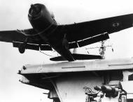 Asisbiz French Navy Grumman F6F 5 Hellcat launched from French carrier Lafayette off Indochina 1956 01