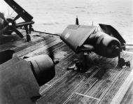 Asisbiz French Navy Grumman F6F 5 Hellcats onboard R95 Arromances previously HMS Colussus 1950 01