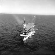 Asisbiz French Navy Grumman F6F 5 Hellcats onboard R95 Arromances previously HMS Colussus 1950 02