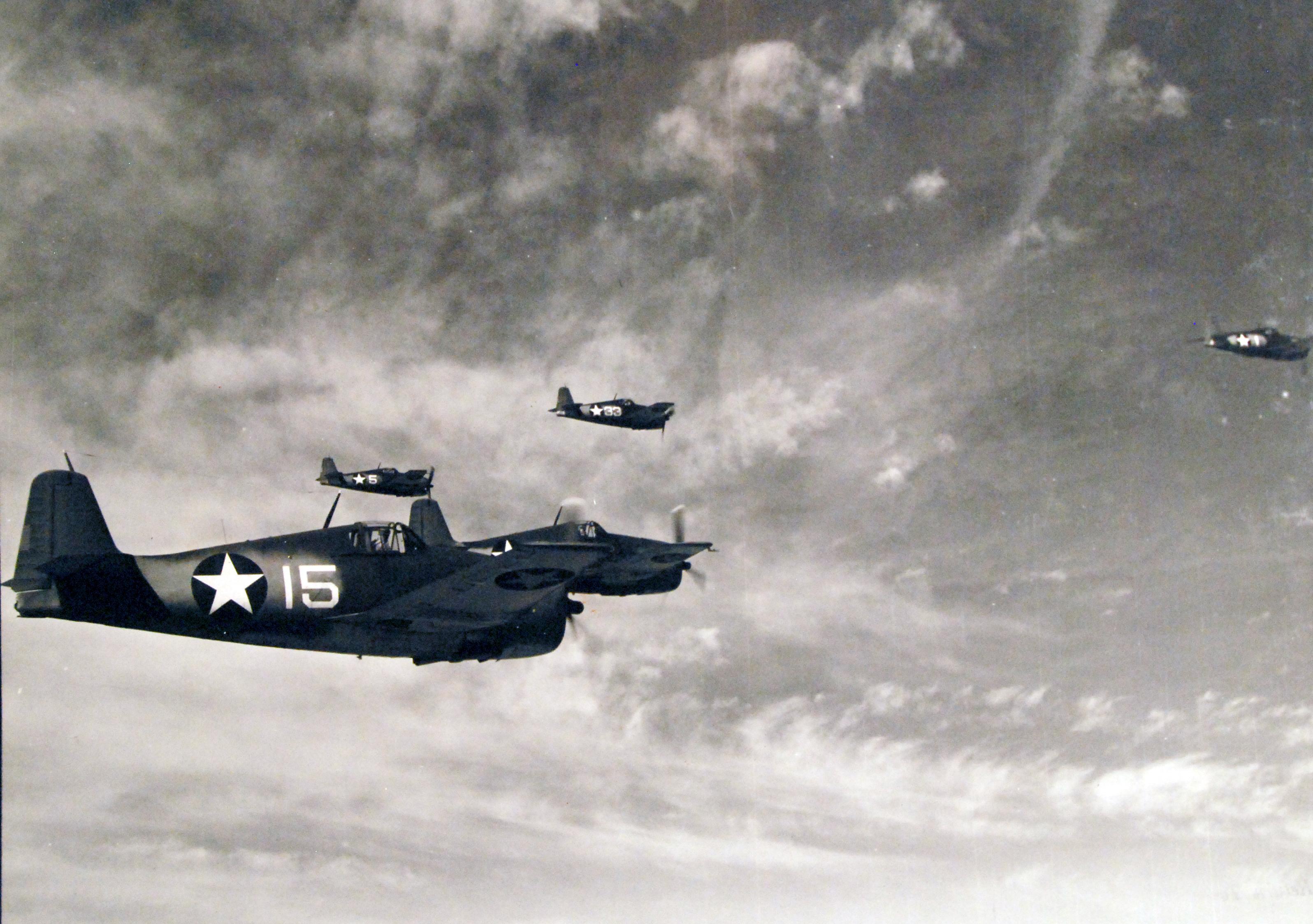 Grumman F6F 3 Hellcat NAS White 15 over Sand Point Seattle Washington Sep 1943 01
