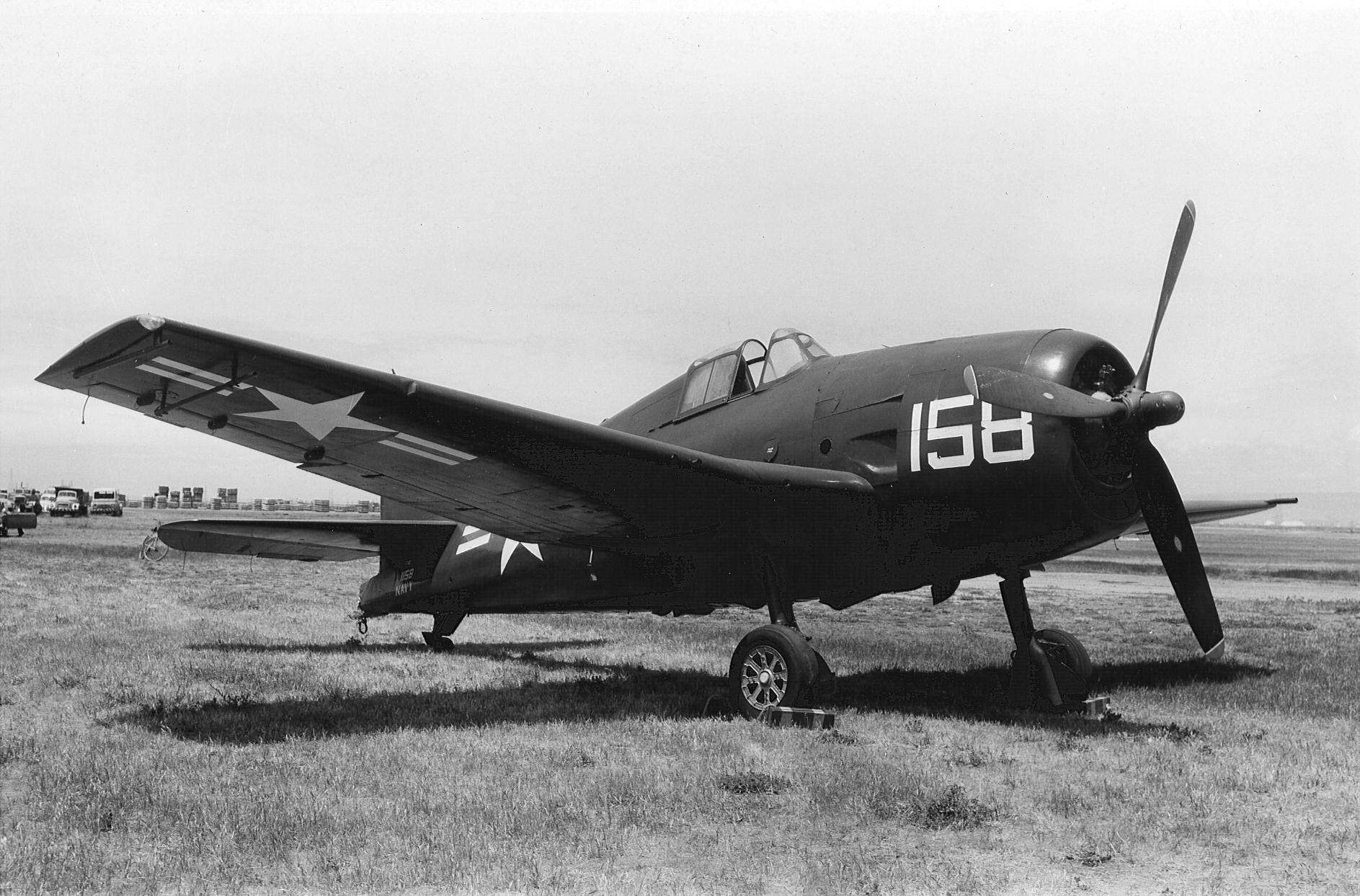 Grumman F6F 3 Hellcat NATC White BuNo 41158 NAS Willow Grove PA 1945 01