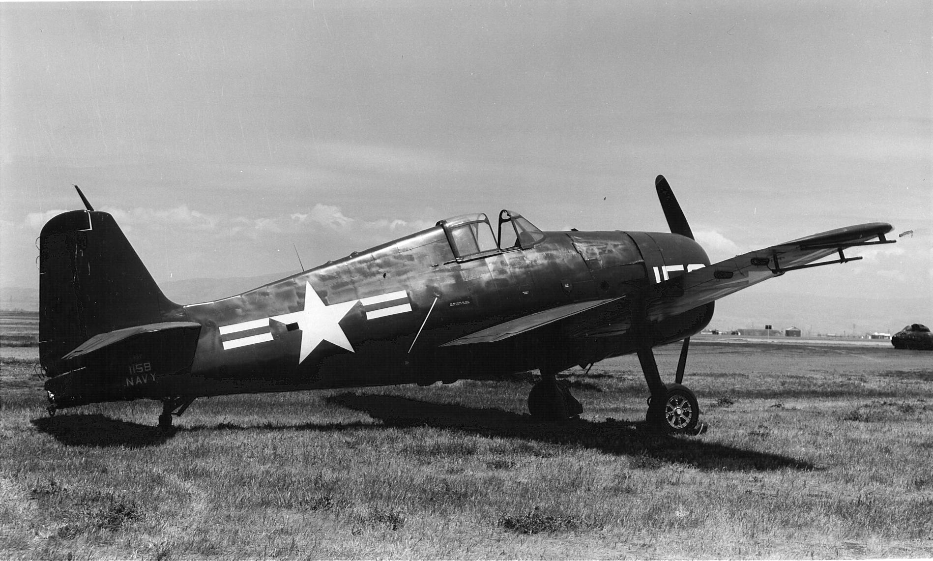 Grumman F6F 3 Hellcat NATC White BuNo 41158 NAS Willow Grove PA 1945 02