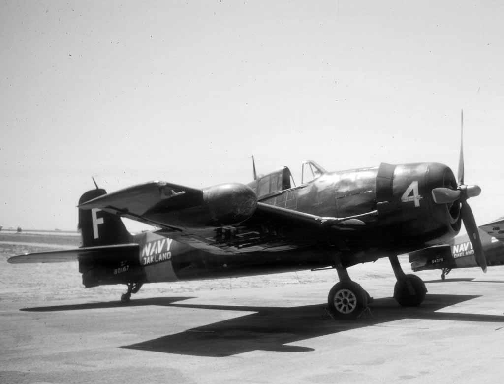 Grumman F6F 5N Hellcat NAS White F4 BuNo 80167 NAS Oakland 01